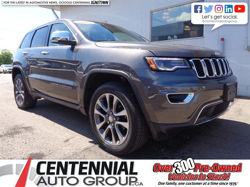 2018 Jeep Grand Cherokee Limited | 4x4 | Leather | NAV | Bluetooth | Moon #P19-091