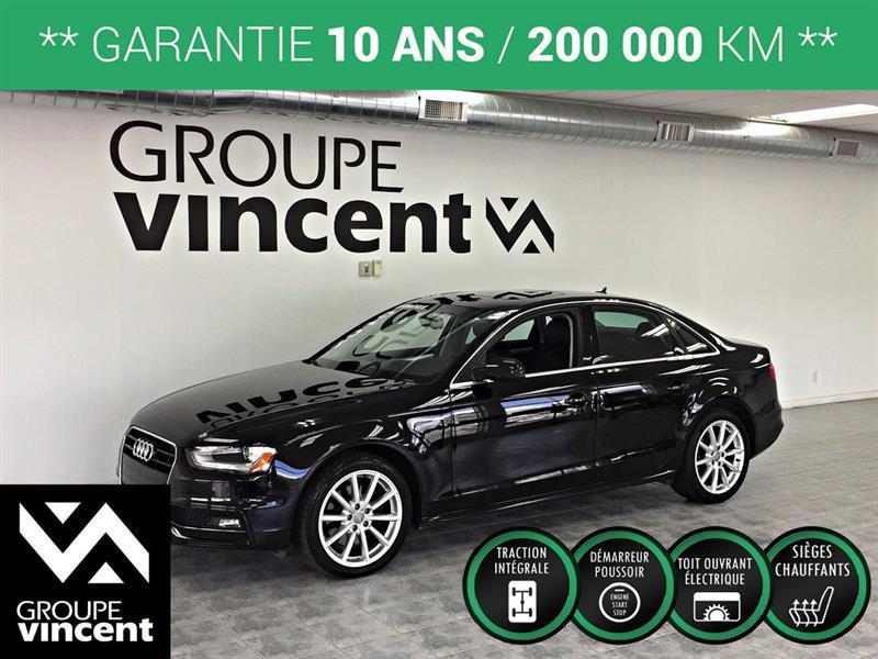 Audi A4 2015 S LINE PROGRESSIV PLUS AWD GPS **GARANTIE 10 ANS** #K6789H