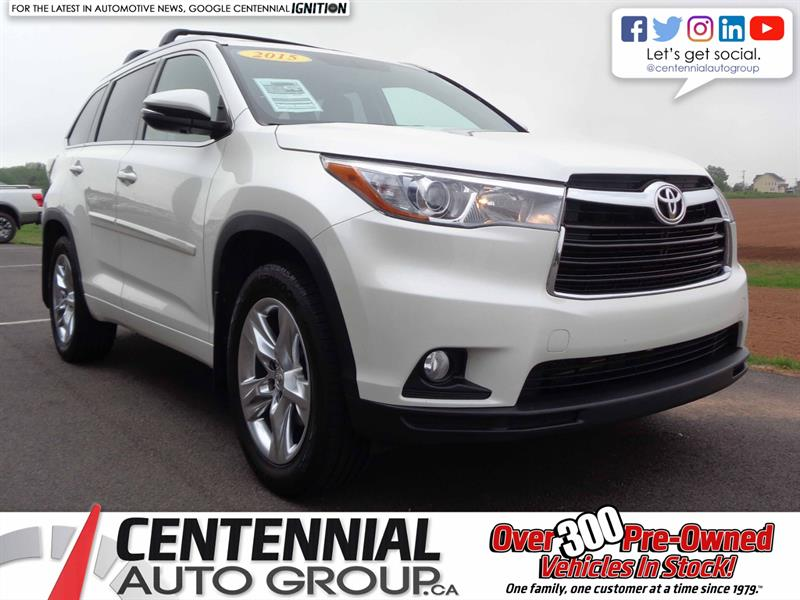 2015 Toyota Highlander Limited | Local Trade | One Owner #SP19-021