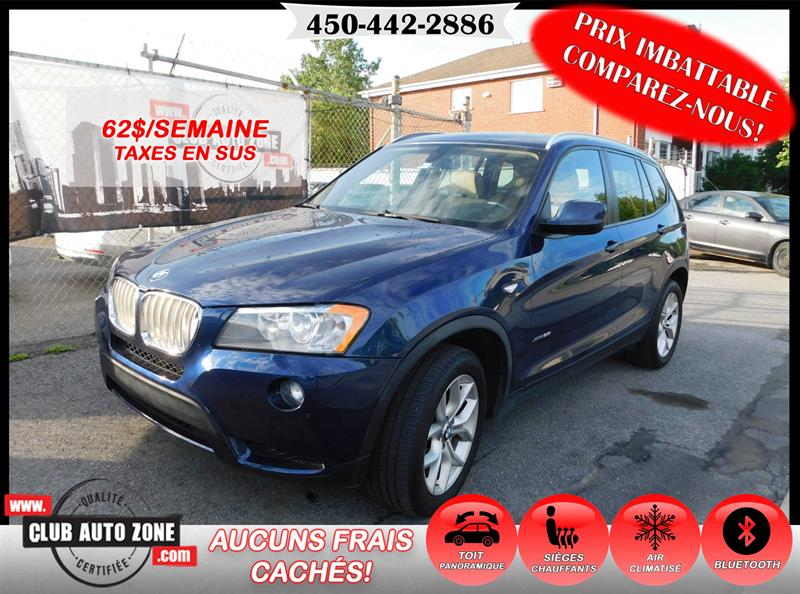 BMW X3 2013 AWD 28i AUTOMATIQUE TOIT PANORAMIQUE #D0D07854