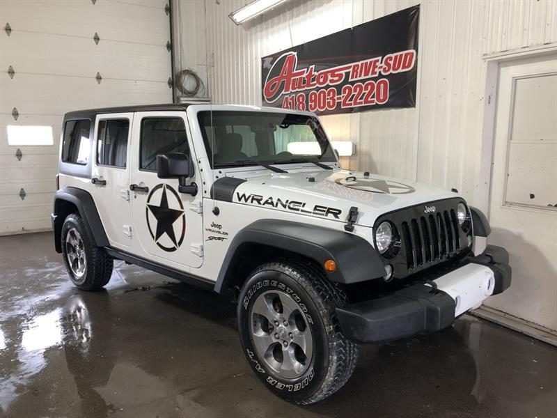Jeep Wrangler Unlimited 2016 Willys 4x4 FULL ÉQUIPÉ SEULEMENT 124 100KM #steph2197