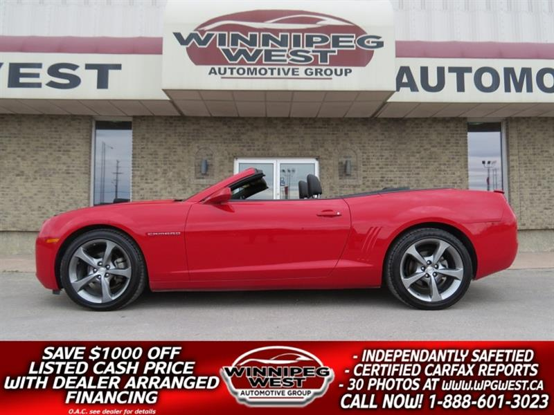 2013 Chevrolet Camaro 2LT 323HP CONVERTIBLE V6, HEADS UP DISP, LEATHER #W5131