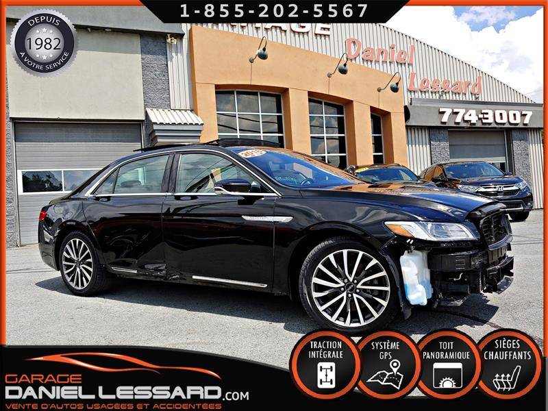 Lincoln Continental 2018 AWD, SELECT, GPS, CUIR, TOIT, VGA DU QC #89340