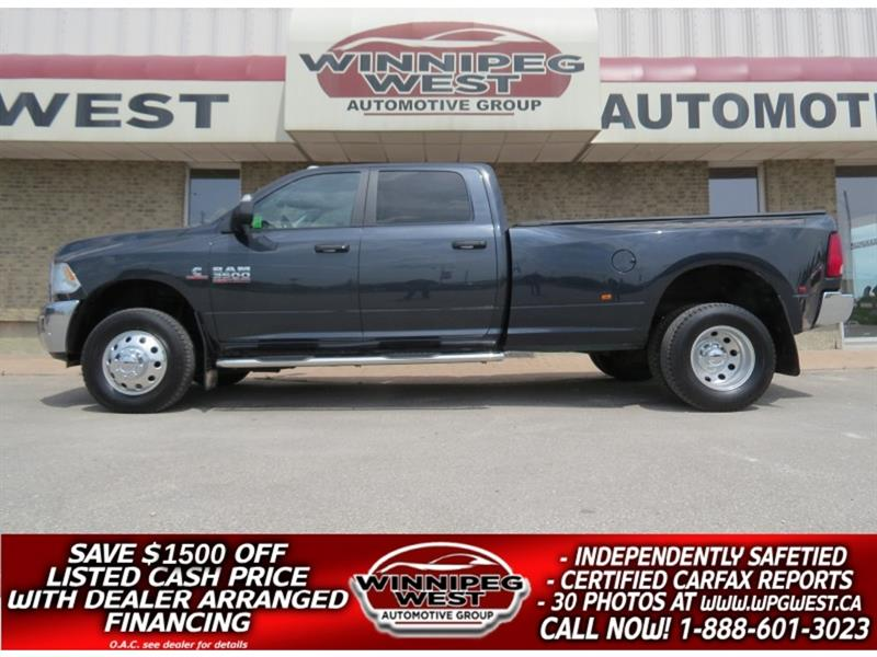 2016 Dodge Ram 3500 *AISIN TRANNY* CUMMINS CREW 4X4 DUALLY, LOADED!! #DW5063A