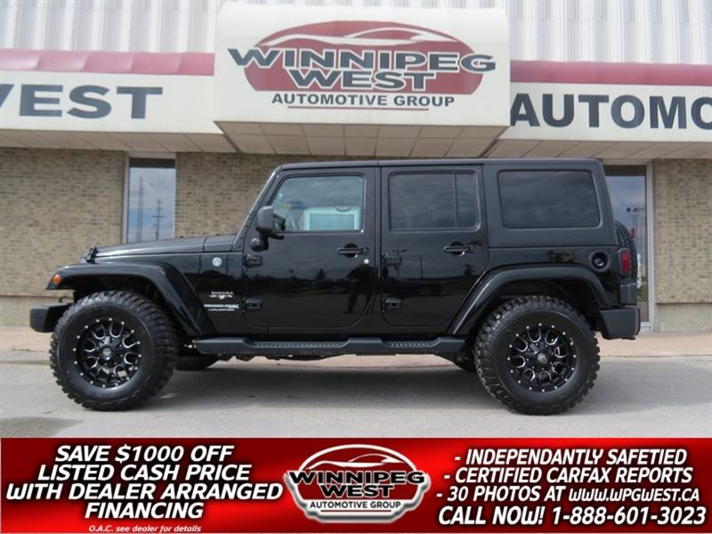 2018 Jeep Wrangler JK Unlimited SAHARA OFF ROAD 4X4, MINT, BLACKOUT, NAV, SAVE BIG #GNW5109