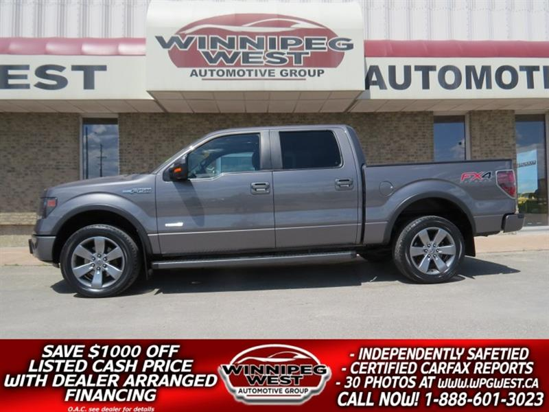 2013 Ford F-150 FX4 CREW ECOBOOST 4X4, LEATHER,NAV, ROOF,  MB TRK! #GW5113