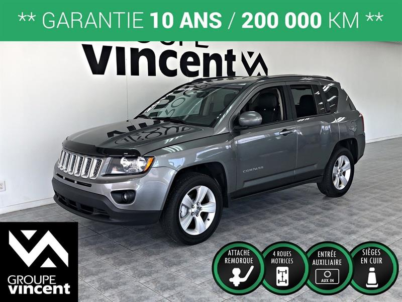 Jeep Compass 2014 NORTH  CUIR 4X4 **GARANTIE 10 ANS** #Y6383AM