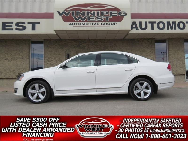 2013 Volkswagen Passat HIGHLINE TDI DIESEL, EMMISSIONS CERTIFIED, LOADED! #DW5102