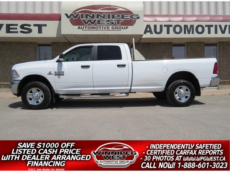 2015 Dodge Ram 3500 CREW 6.7L CUMMINS 4X4 DIESEL 8FT BOX, WORK READY #DW5025A