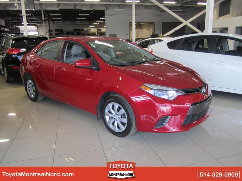 Toyota Corolla 2015 LE CVT Aut/Ac/Vitres,Portes,Miroirs Electriques  #3817 AT