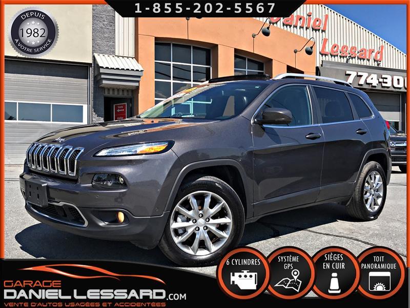 Jeep Cherokee 2018 LIMITED AWD, CUIR, GPS, TOIT, ANGLE MORT,  #88556