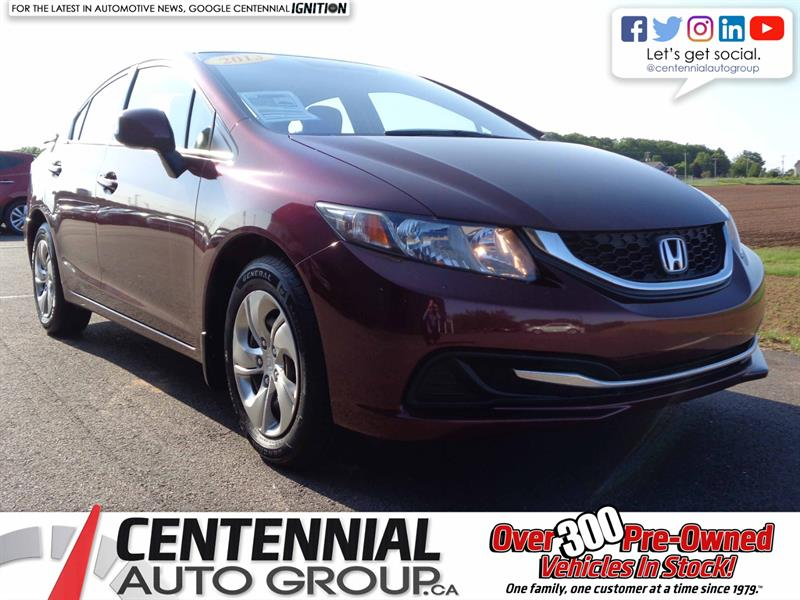 2013 Honda Civic Sdn LX | Local Trade | One Owner #S19-003A
