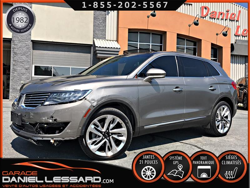 Lincoln MKX 2017 AWD RESERVE, 2.7 L V6, TOIT PANO, CUIR, GPS, FULL  #79407