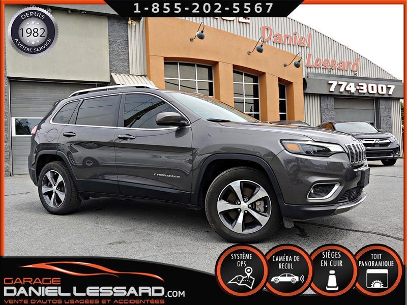 Jeep Cherokee 2019 LIMITED AWD, CUIR, GPS, TOIT, ANGLE MORT, VGA ARG  #99416