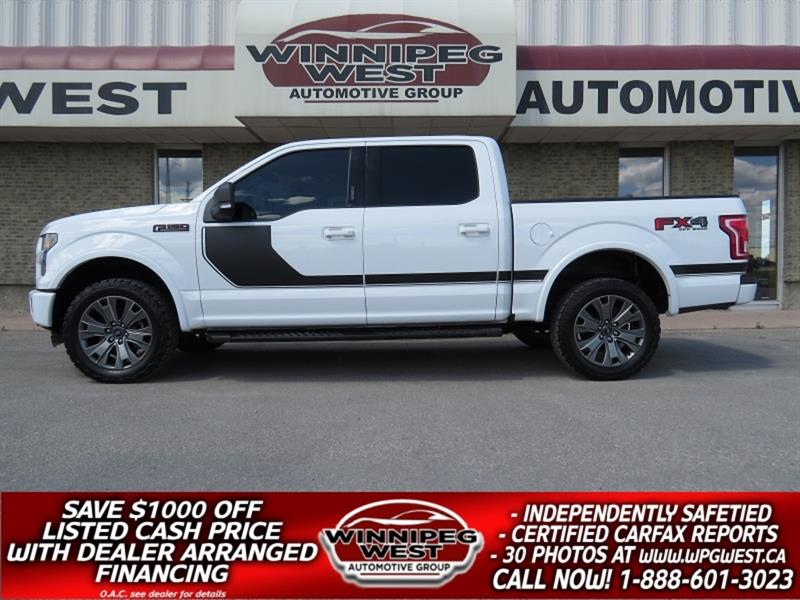 2016 Ford F-150 FX4 SPORT EDITION CREW 5.0L V8 4X4, LOADED & MINTY #GW5129