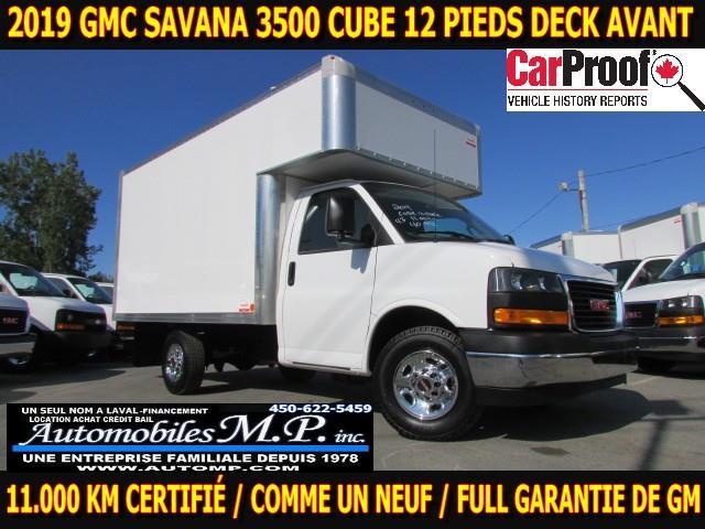 GMC Savana 3500 Cube 12 Pieds 2019 DECK AVANT 11.000 KM COMME UN NEUF CAMERA DE RECUL #5623