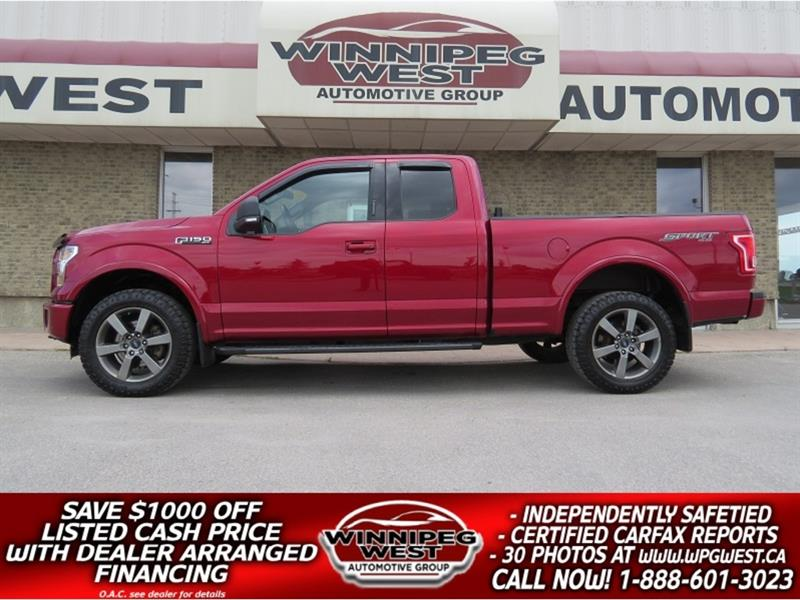 2015 Ford F-150 SPORT EDITION 5.0L V8 4X4, LOADED, EXTRA CLEAN #GW5123