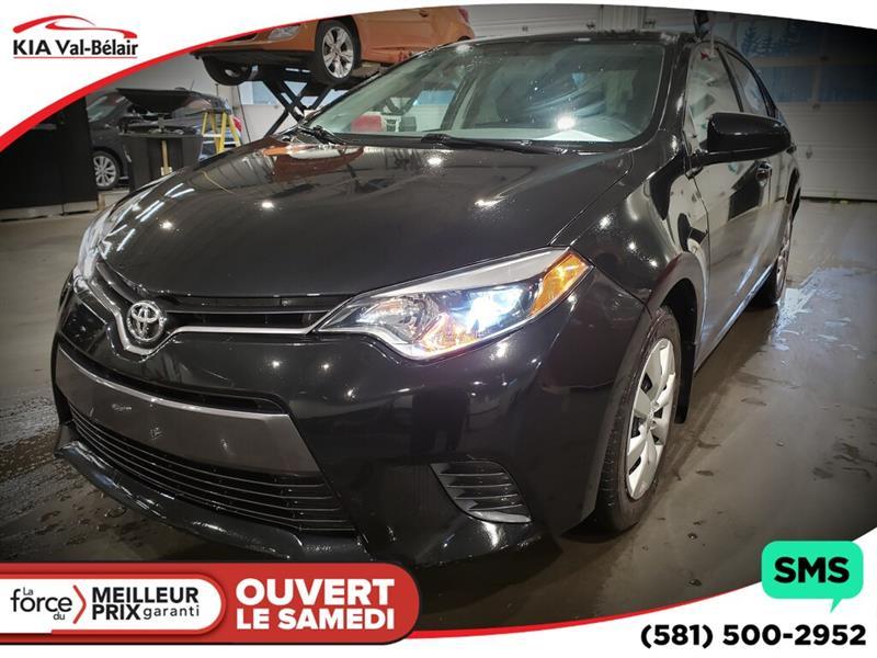 Toyota Corolla 2016 *LE*AIR*CRUISE*BLUETOOTH* #VU624