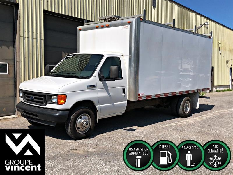 Ford Econoline Cutaway 2006 E450 SUPER DUTY DIESEL **CUBE 16 PIEDS** #406AT