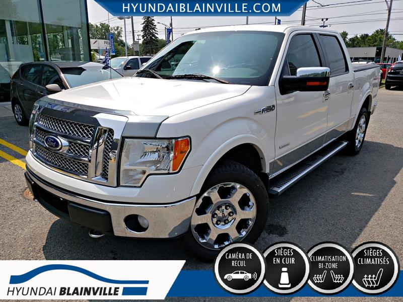 2011 Ford F-150 4WD LARIAT SUPERCREW CUIR,TOIT,DÉMAR DISTANCE+ #19798A