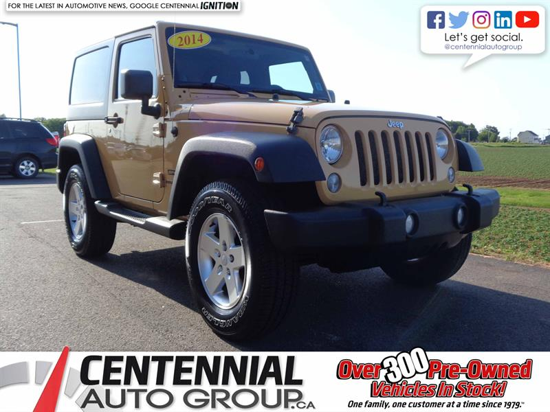2014 Jeep Wrangler Sport | Local Trade | One Owner #S19-081A