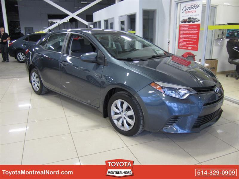 Toyota Corolla 2015 LE CVT Aut/Ac/Vitres,Portes,Miroirs Electriques  #3843 AT