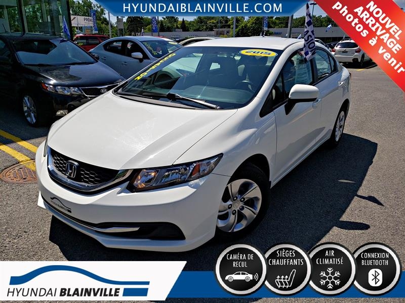 Honda Civic Sedan 2015 LX CAM RECUL,BLUETOOTH,BANCS CHAUF+ #E-0342