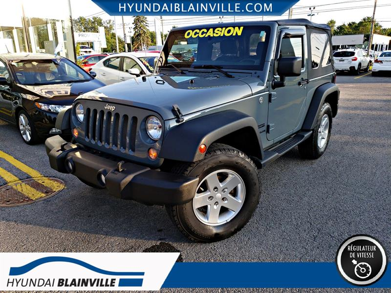 Jeep Wrangler 2014 SPORT 4WD, MAGS, PHARES ANTI-BROUILLARD #19604A