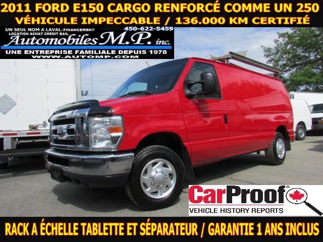 2011 Ford E-150 CARGO VÉHICULE VRAIMENT IMPECCABLE RACK A ÉCHELLE  #3091