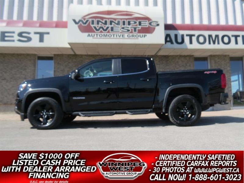 2016 Chevrolet Colorado CREW 3.6L V6 4x4 MIDNIGHT EDITION, LOCAL, LOW KM #GW5169