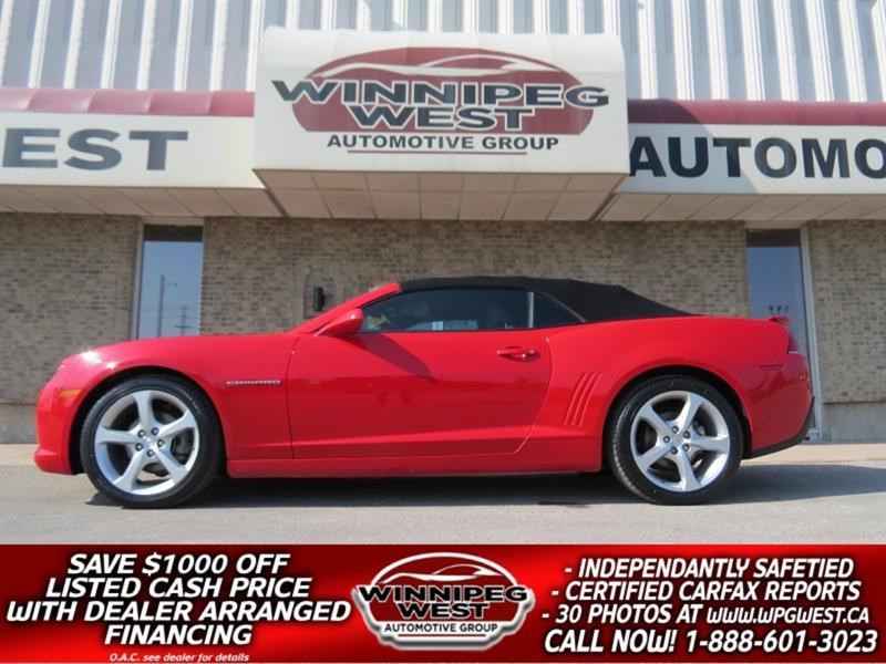 2015 Chevrolet Camaro 2LT RS CONVERTIBLE, AUTO LEATHER, HEADS UP, NICE #W5170