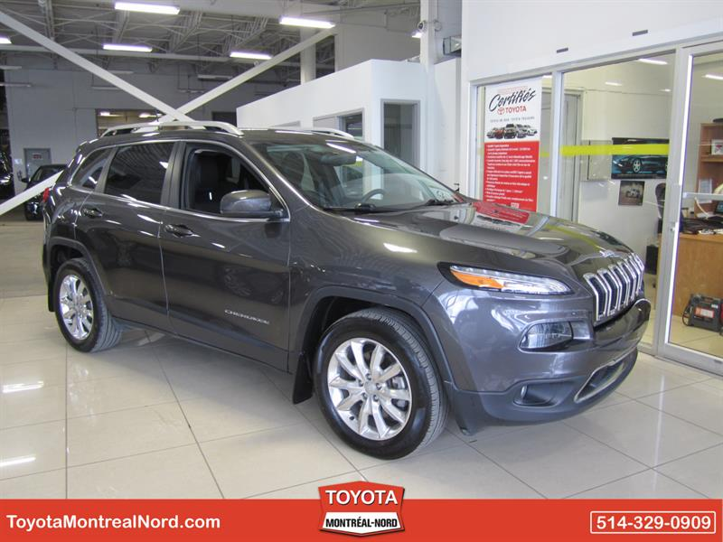 Jeep Cherokee 2016 Limited 4x4 Cuir+Gps+Hitch #3862 E