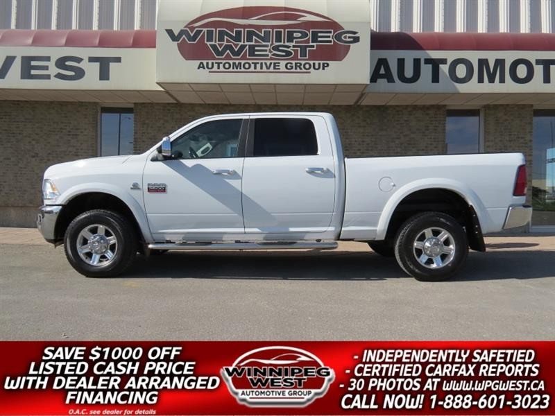 2012 Dodge Ram 2500 LARAMIE CREW CUMMINS DIESEL 4X4, LOADED 1 OWNER #DW5150A