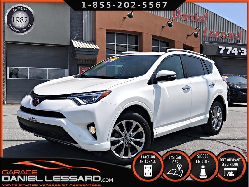 Toyota RAV4 2017 LIMITED GR PLATINUM, AWD, CUIR, GPS, ANGLE MORT,+  #79461