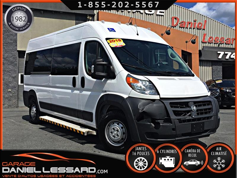 Ram ProMaster Cargo Van 2018 *ADAPTÉ BRAUNABILITY* 2500 HIGHROOF, CLEAN TITLE #89302