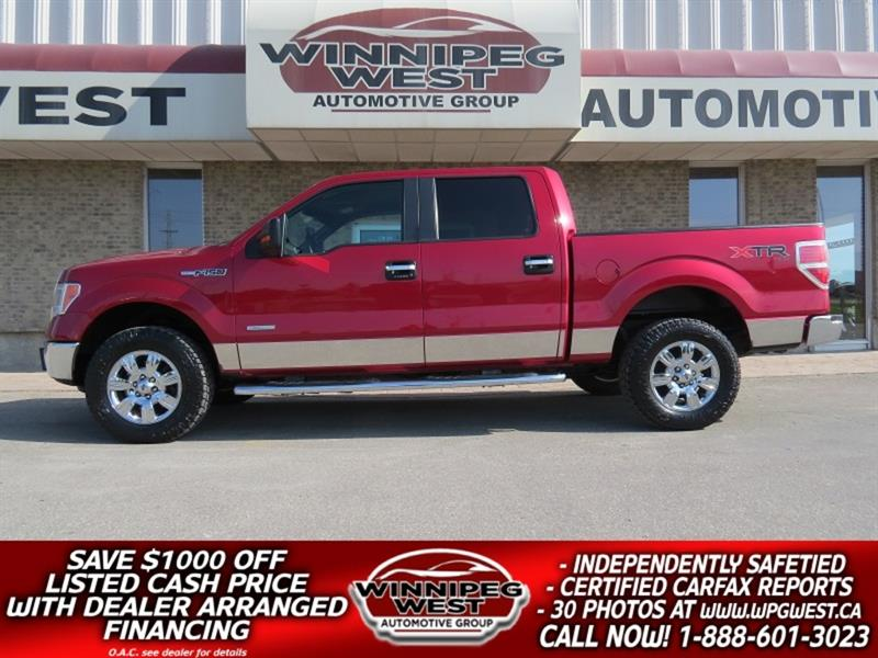 2012 Ford F-150 XTR EDITION CREW ECOBOOST 4X4, LOADED,  LOW KMS! #GW5173