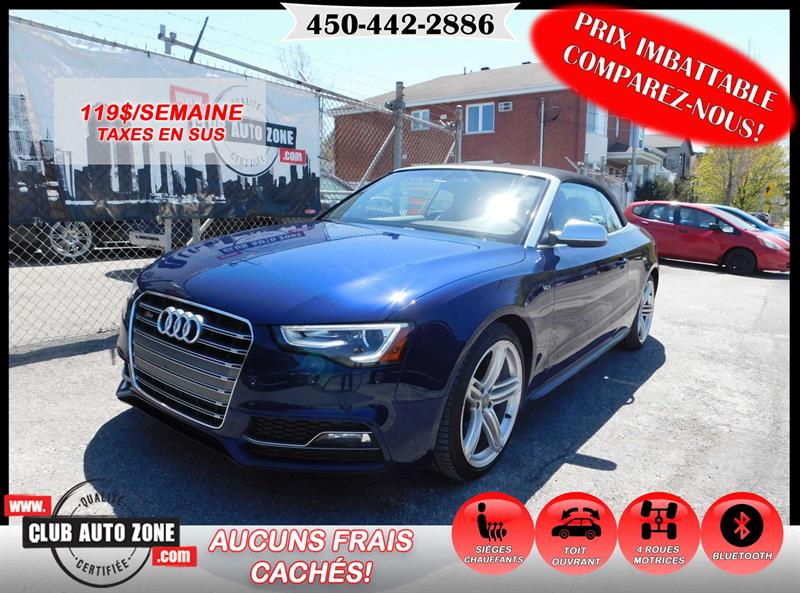 Audi S5 2013 PREMIUM AWD AUTOMATIQUE BLUETOOTH  #DN012688