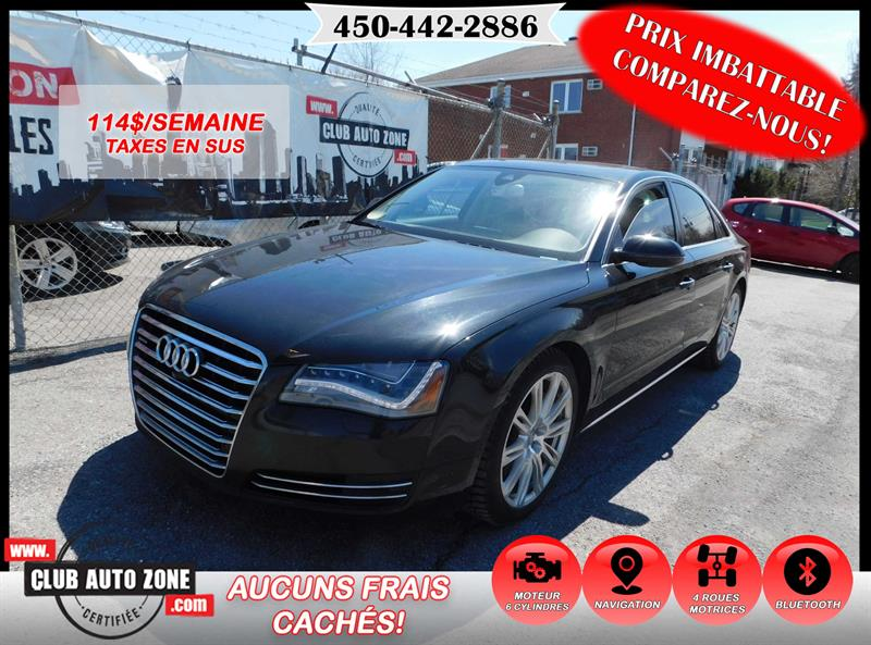 Audi A8 2014 3.0T QUATTRO AUTOMATIQUE BLUETOOTH #EN012346