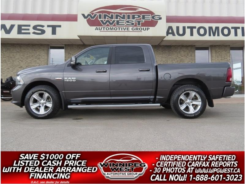 2014 Ram 1500 SPORT EDITION CREW 5.7L HEMI , NAV, ROOF, LEATHER! #GW5162
