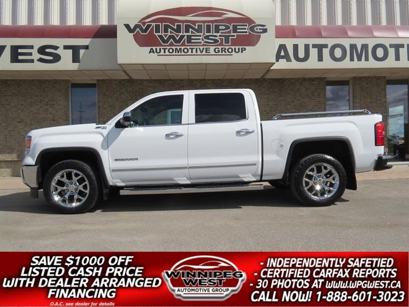2014 GMC Sierra 1500 SLT Z71 HARD LOAD CREW 4X4 1 OWNER, NAV & MORE! #GW5185
