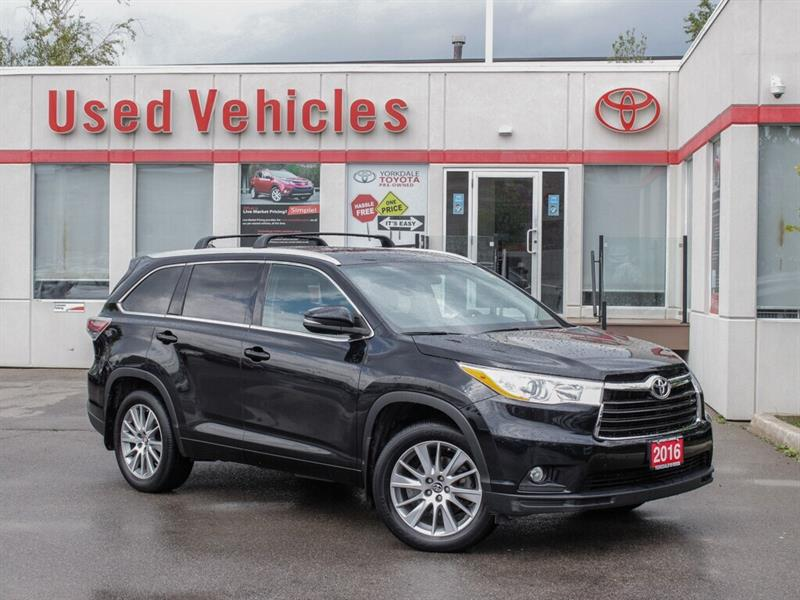 2016 Toyota Highlander One Owner VERY LOW KMS   XLE   Towing Hitch  Bckp #L8185