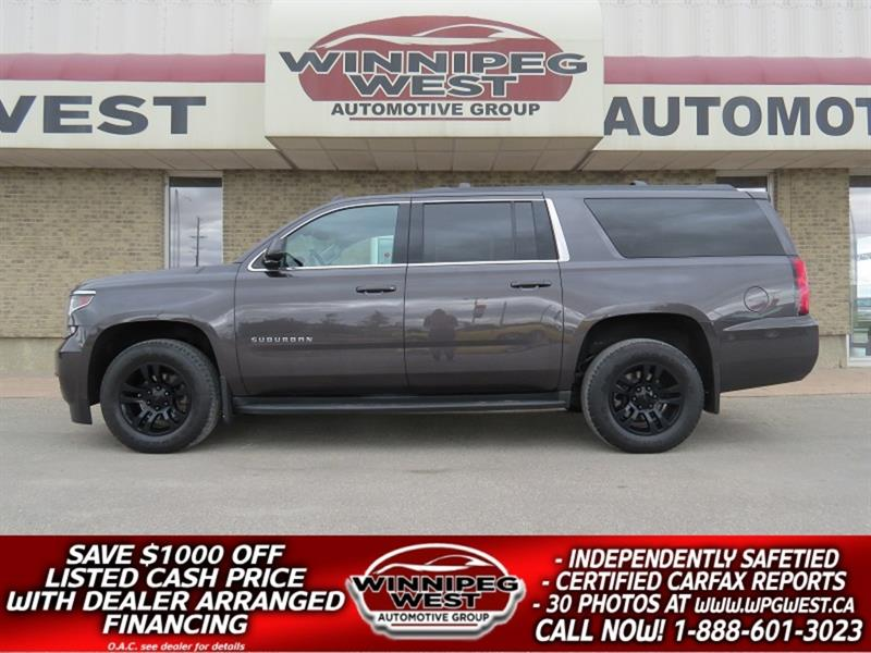 2016 Chevrolet Suburban 4X4, LOADED 9 PASS, HTD LEATHER, EXHAUST, CLEAN!! #GNW5220
