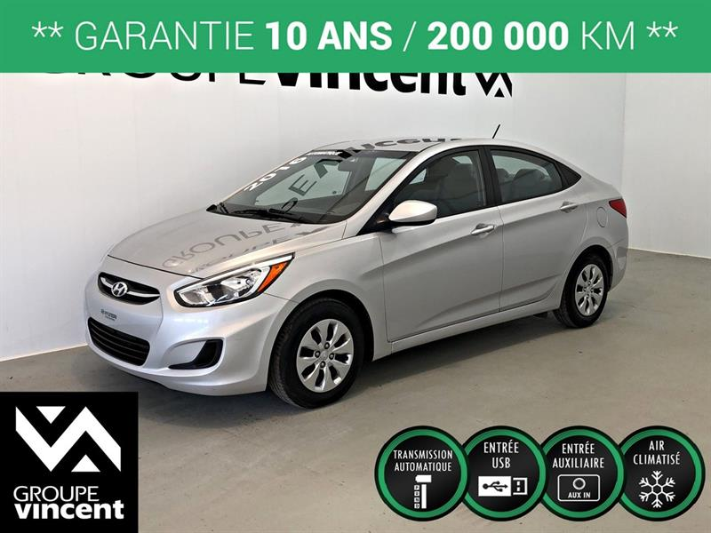 Hyundai Accent 2016 LE ** GARANTIE 10 ANS ** #7705AT