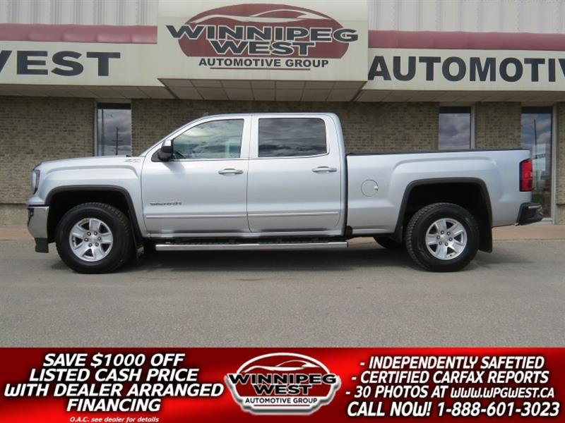 2018 GMC Sierra 1500 SLE CREW CAB 5.3L 4X4, LOADED, BLUETOOTH, LIKE NEW #GW5208