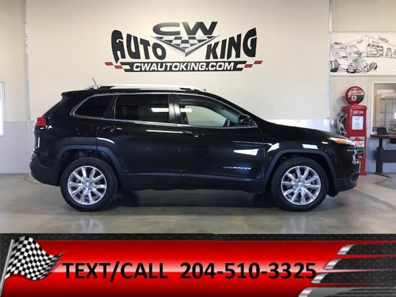 2014 Jeep Cherokee Limited/Low Kms/Leather/Roof/Nav/Rear Cam #20042473