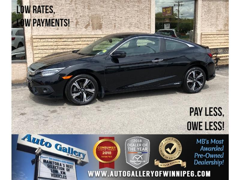 2016 Honda Civic Coupe Touring *Navi/Htd Lthr/B.tooth/Back.Cam/Roof #24036