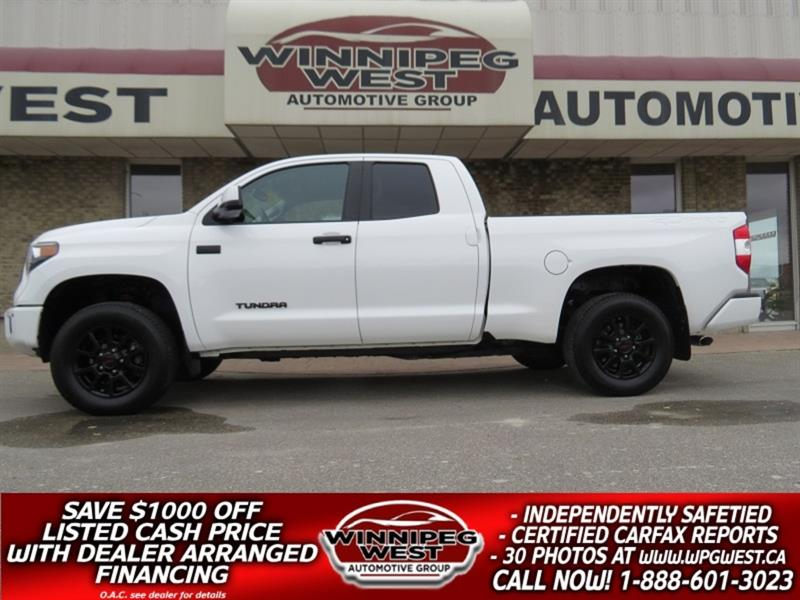 2017 Toyota Tundra TRD PRO 5.7L 4X4, LOADED, HTD LEATHER, LOCAL TRUCK #GWCON177
