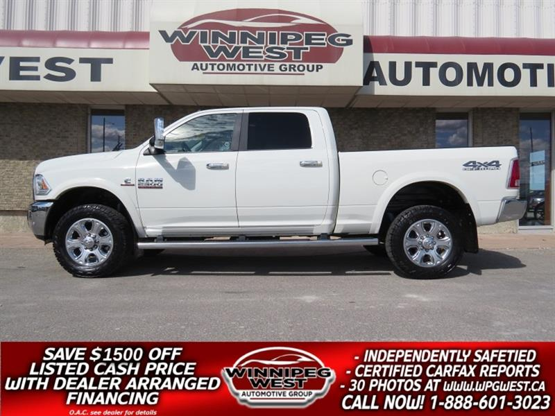 2018 Dodge Ram 2500 LARAMIE CUMMINS DIESEL CREW 4X4, LOADED, AS NEW #DW5229A