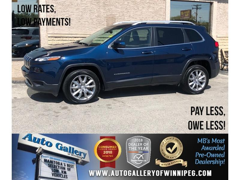 2018 Jeep Cherokee Limited *B.tooth/Back.Cam/Htd Lthr/9Spd Auto/V6 #24070