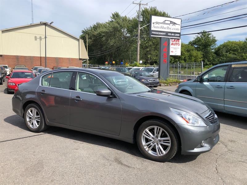 Infiniti G37 Sedan 2011 AWD-Air-Cuir-Mags-Toit-Camera-Jamais Accidentée #7250